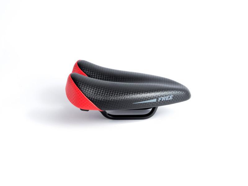 Sillin Duopower Free rojo 2 - saddle - bike saddle - no nose saddle - ergonomic saddle