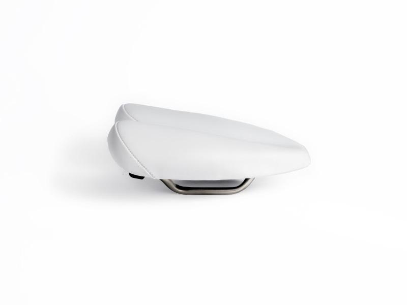 Sillin Duopower Nelox blanco 2 - saddle - bike saddle - no nose saddle - ergonomic saddle