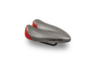 Sillin Duopower Free gris rojo - saddle - bike saddle - no nose saddle - ergonomic saddle